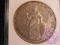Peru 1831 CG 8 Reales ANACS AU53