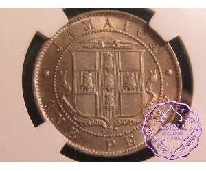 Jamaica 1910 Edward VII Penny NGC MS66
