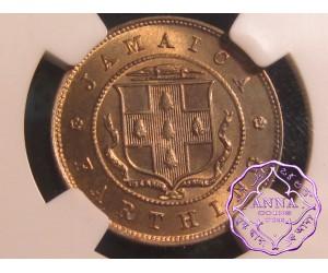 Jamaica 1910 Edward VII 1/4 P NGC MS66