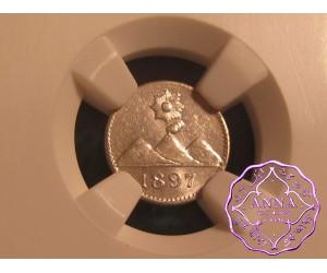 Guatemala 1897 Republic 1/4 Real NGC MS63