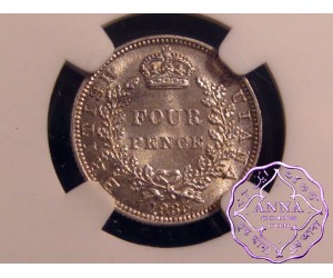 British Guiana 1935 Four Pence NGC MS65