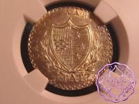 Switzerland 1826 Aargau Canton 5 Batzen NGC MS66