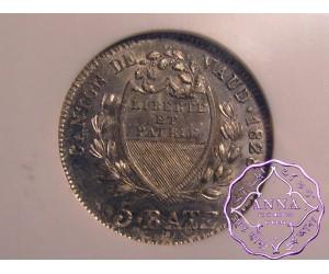 Switzerland 1828 BEL Vaud 5 Batzen NGC MS63