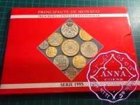 Monaco 1995 Rainier III Mint Set 10 Coins