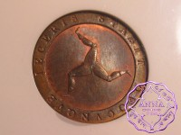 Isle of Man 1798 George III copper Proof 1/2 Penny NGC PR64RB