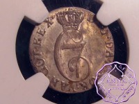 Norway 1784 HIAB Christian VII of Denmark 2 Skilling NGC MS63