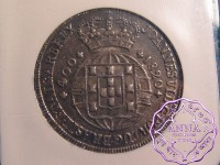 Portugal 1820 Joao VI 400 Reis  NGC MS62