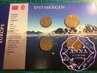 Spitzbergen 1993 Complete UNC Set 4 Coins