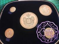Portugal 1908 Silver 5  Medals Set GEM