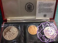 Iceland 1974 Gold & Silver Proof Set with COA