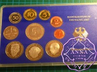 German 1985 J Proof Set 10 Coins