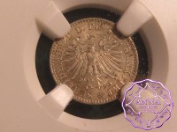 German 1866 Frankfurt Free City Kreuzer NGC MS64