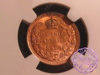 Great Britain 1913 1/3 Farting NGC MS63RB