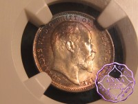 Great Britain 1908 Edward VII Maundy Set NGC MS67
