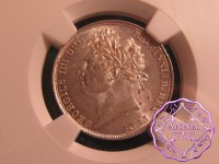 Great Britain 1821 George IV Shilling NGC MS64