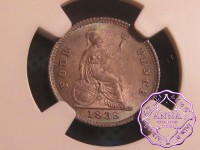 Great Britain 1838 Victoria 4 Pence  NGC MS65