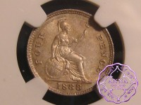 Great Britain 1888 Victoria 4 Pence NGC MS64