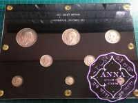 Great Britain 1911 George V Silver Proof Set With Case 8 Coins CUNC