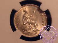 Great Britain 1836 William IV 4 Pence NGC MS64