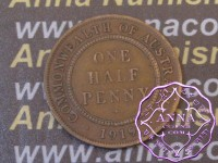 Australia 1919 Halfpenny Average Circulated Condition