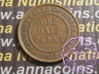 Australia 1912 Halfpenny Average Circulated Condition