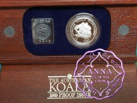 Australia 1989 Koala 1/2 oz Platinum Proof Coin With Case