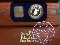 Australia 1988 Koala 1/2 oz Platinum Proof Coin With Case