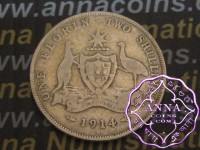 Australia 1914 H Florin Average Circulated Condition