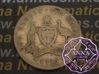 Australia 1915 Florin Average Circulated Condition