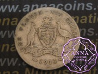 Australia 1916 Florin Average Circulated Condition