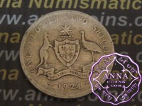 Australia 1924 Florin Average Circulated Condition