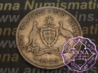 Australia 1925 Florin Average Circulated Condition