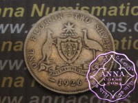 Australia 1926 Florin Average Circulated Condition