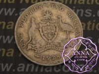 Australia 1928 Florin Average Circulated Condition