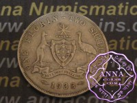 Australia 1933 Florin Average Circulated Condition