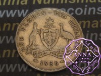 Australia 1936 Florin Average Circulated Condition