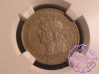 Guadeloupe 1921 French Colony Franc NGC MS61