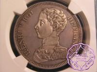 France 1831 Henry V Pretender Essai  5 Francs NGC MS63