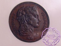 France 1848 Republic bronze Piefort Essai 20 Francs NGC MS63BN