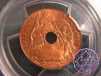 French Indo China 1939 A French Colony Cent PCGS MS64RD