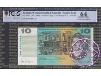 1968 $10 R303 Phillips/Randall PCGS 64