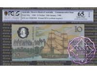 1988 $10 AA23 Johnston/Fraser PCGS 65 OPQ