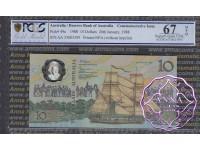 1988 $10 AA23 Johnston/Fraser PCGS 67 OPQ