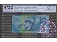 1993 $10 R316aF Fraser/Evans PCGS 69 OPQ