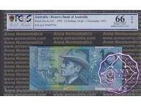 1993 $10 AA93 Opt Fraser/Evans PCGS 66 OPQ