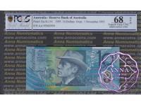 1993 $10 AA93 Opt Fraser/Evans PCGS 68 OPQ