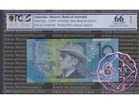 1995 $10 AA95 Fraser/Evans PCGS 66 OPQ