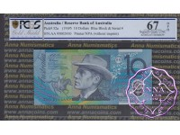 1995 $10 AA95 Fraser/Evans PCGS 67 OPQ