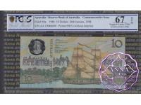 1988 AA$10 Johnston/Fraser PCGS 67 OPQ