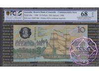 1988 AA$10 Johnston/Fraser PCGS 68 OPQ